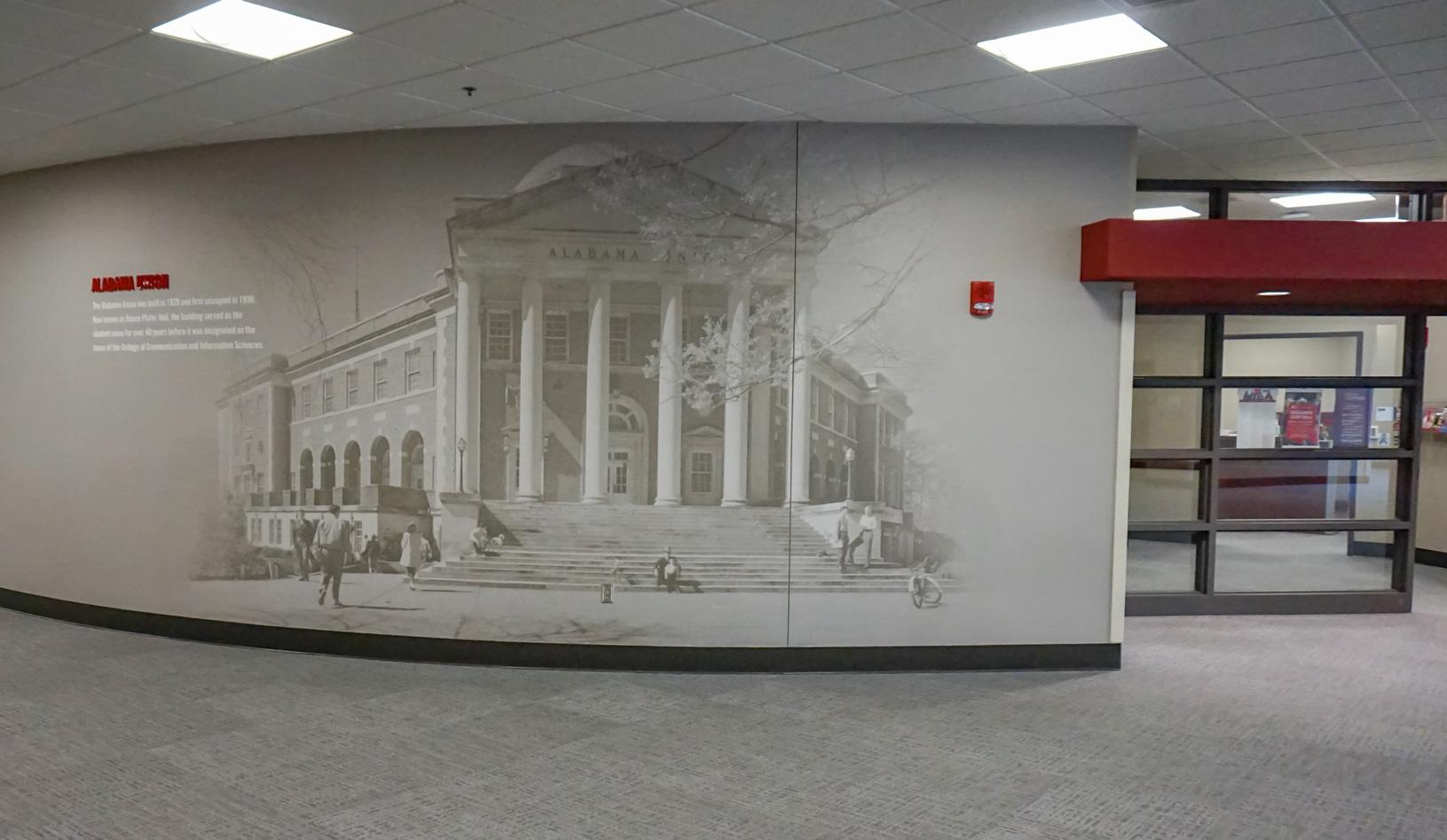 Alabama Union wall graphic in Ferguson Hall