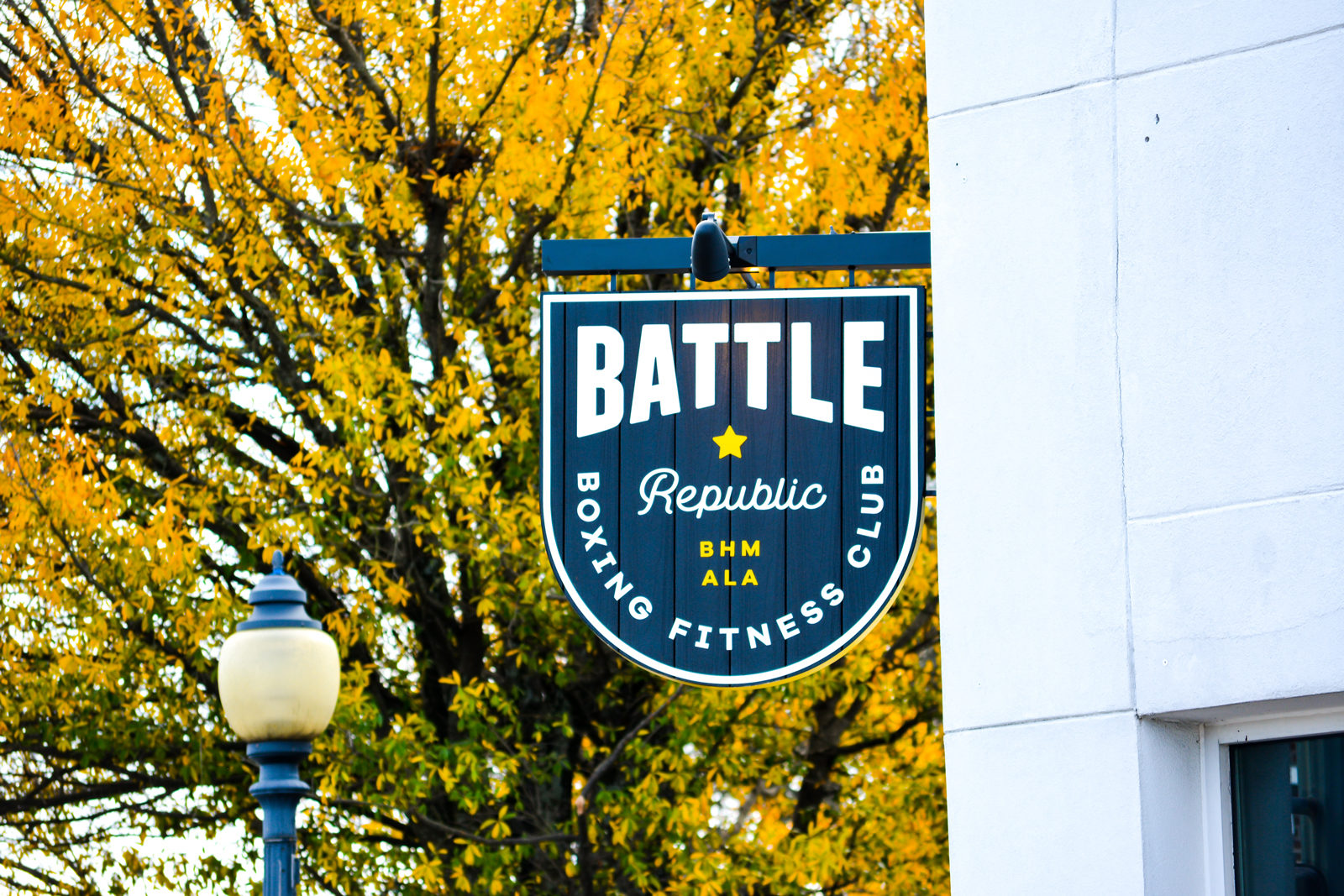 Battle Republic Exterior Flag Sign
