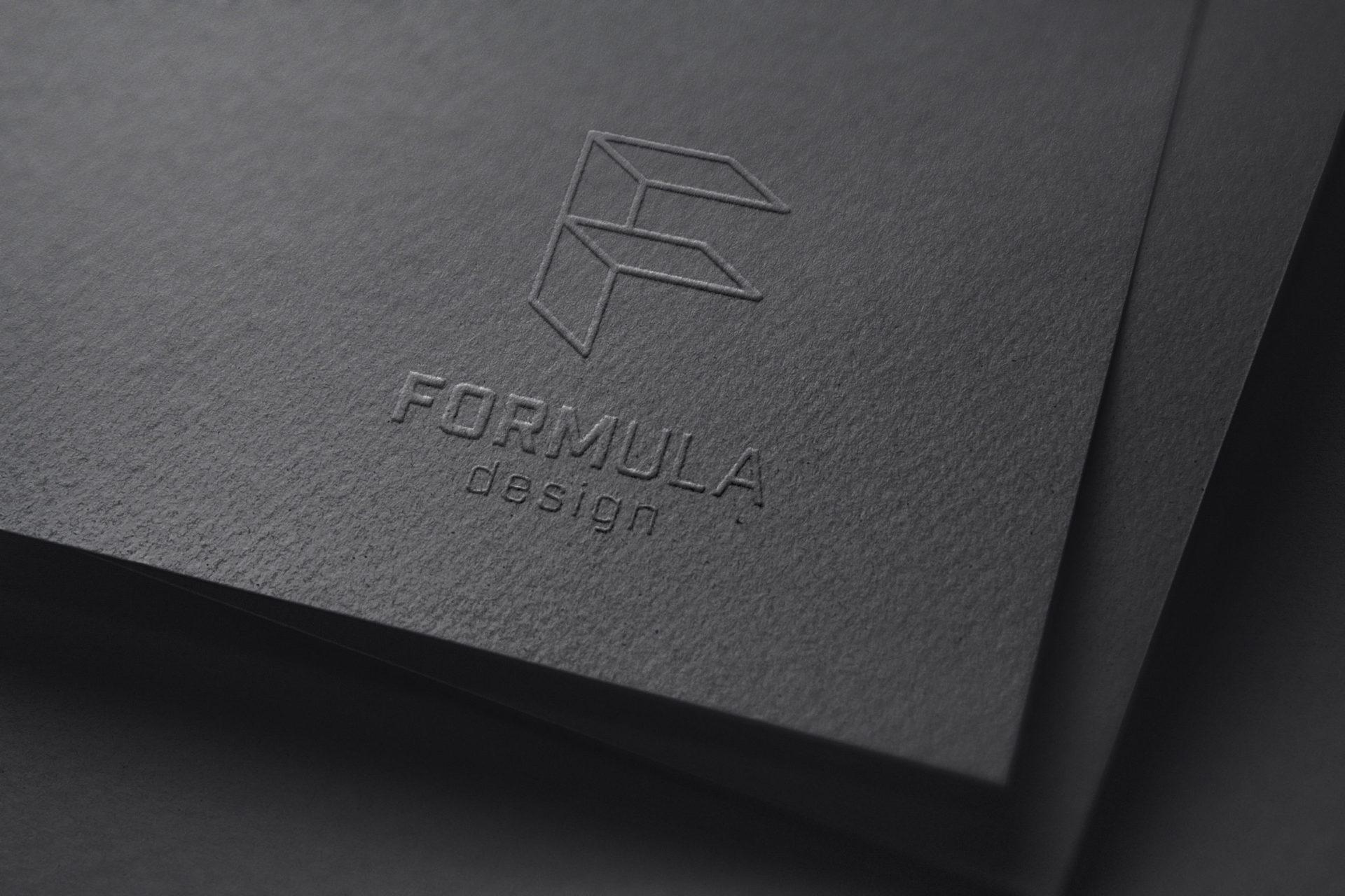 Embossed Formula Design logo