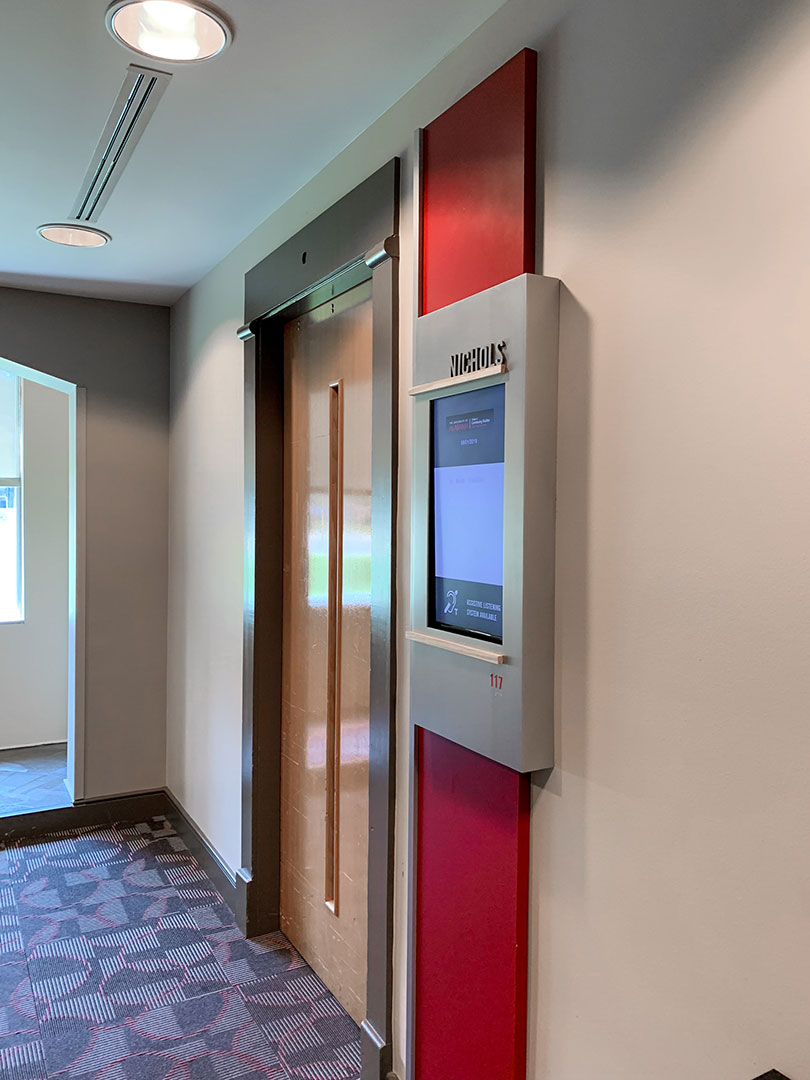 Digital display enclosure for the Bryant Conference Center